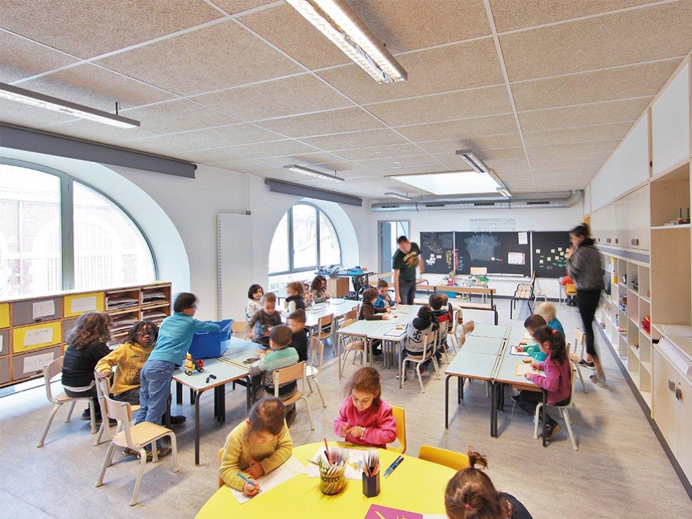 école Paule et Joseph Thiollier : mobilier recyclage